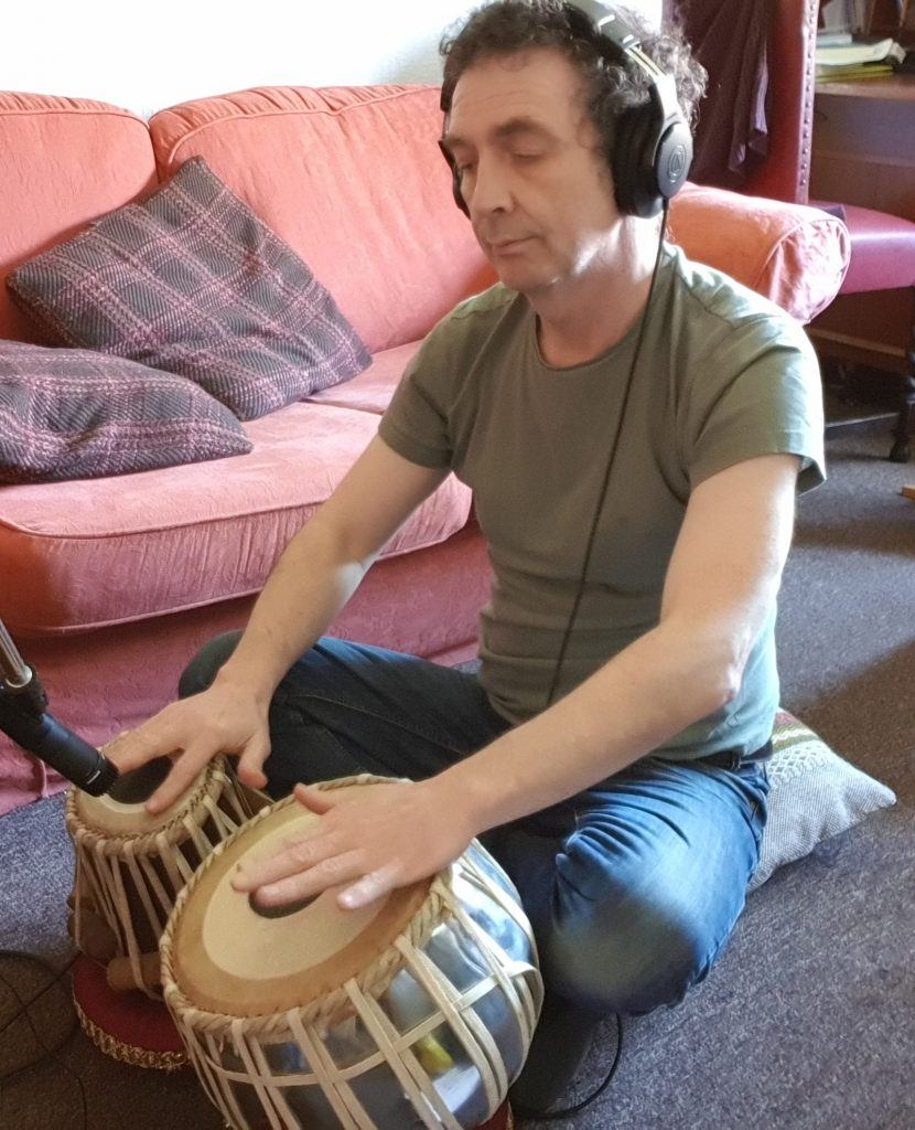 Recording tablas on the new album.  Finish the album; One of my Big 4 things to focus on.
