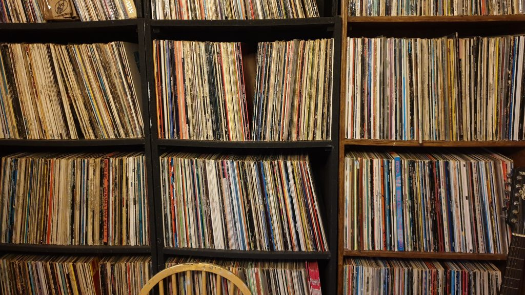 A part of my record collection. A new podcast upcoming.