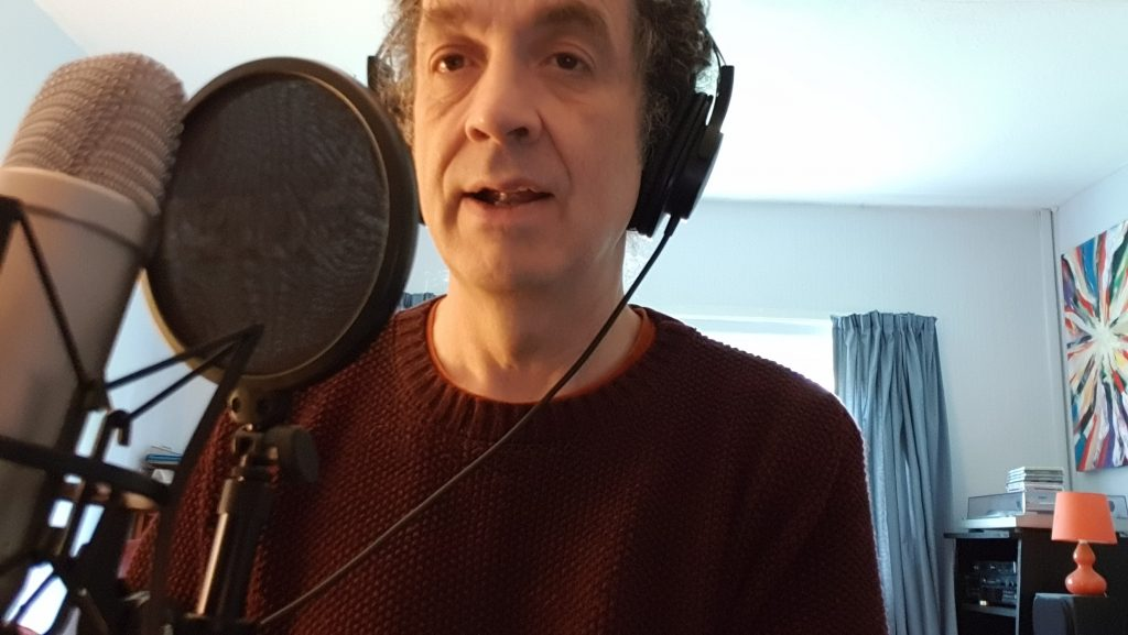 Shem Sharples Music Explosion.  Projects on the go. Shem recording the show.